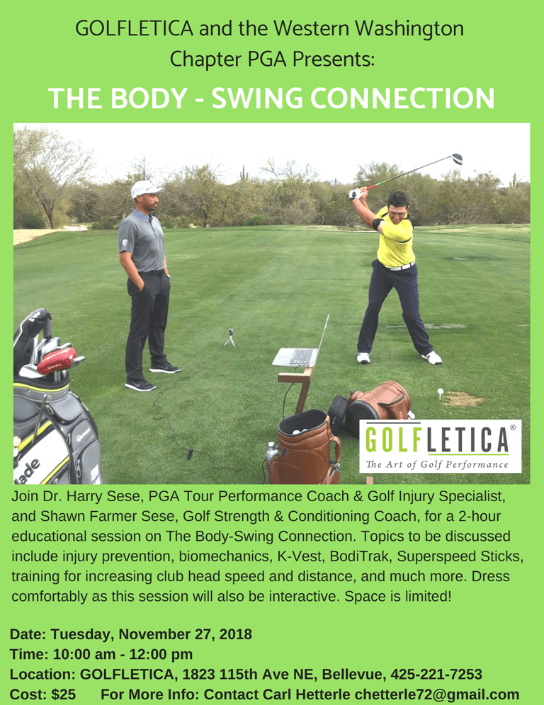 The Body / Swing Connection @ Golfletica | Bellevue | Washington | United States
